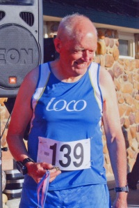 Leigh with 1st place medal in June 2008