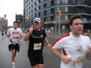 Scott Russell smiles at the recent Toronto Waterfront Marathon